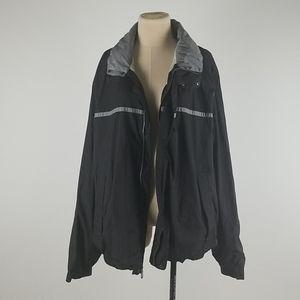 Nautica XXL black & grey sports rain jacket